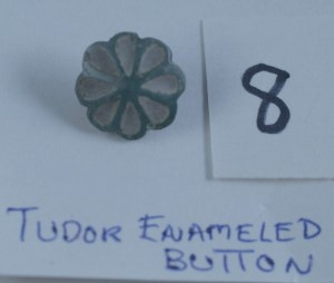 Tudor enameled button 8