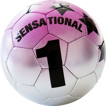 Soccer ball Sensational silver 01