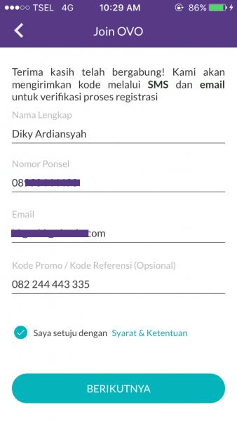Pendaftaran OVO