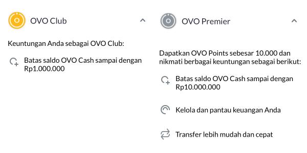 Perbedaan OVO Club dan Premier