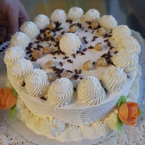Das Bild zeigt unsere kleine Torte