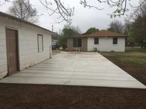 Residential concrete driveway