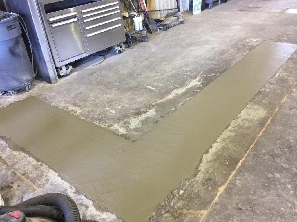 Commercial concrete floor repair
