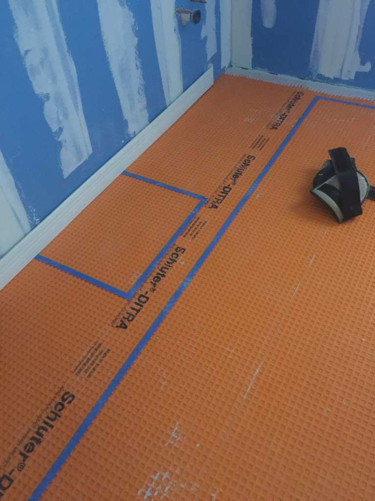 Schluter-Ditra tile floor system.