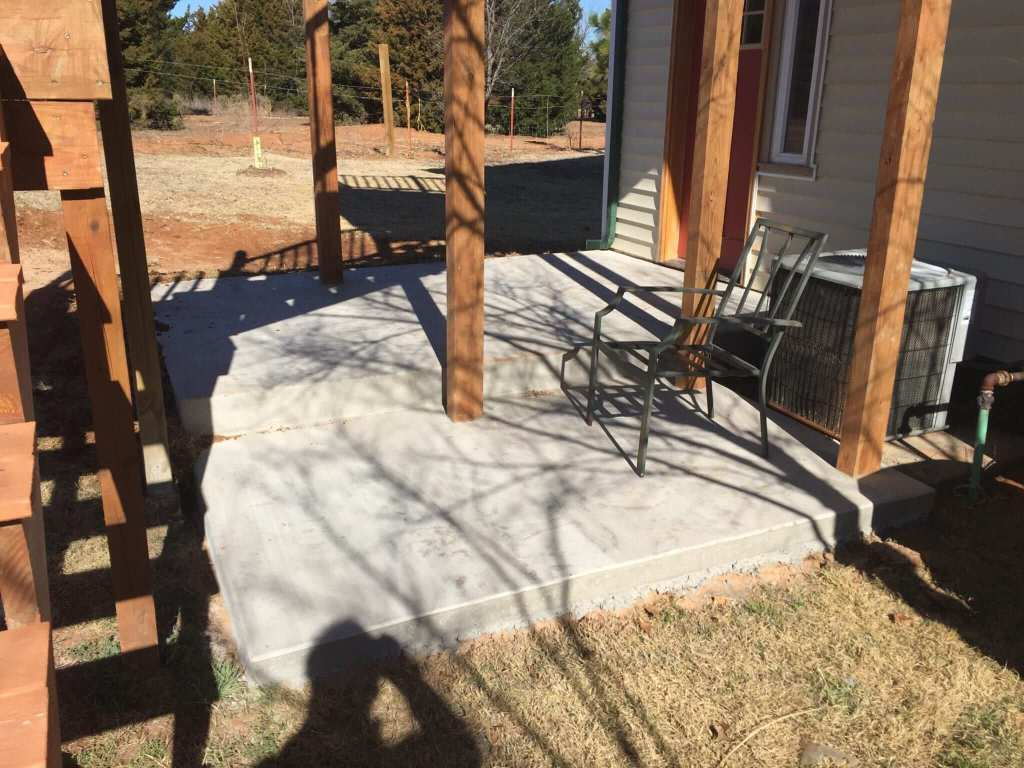 Concrete patio.