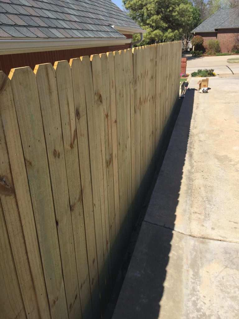 New wood fence.