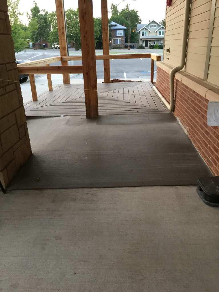 Commercial Concrete Patio Area.