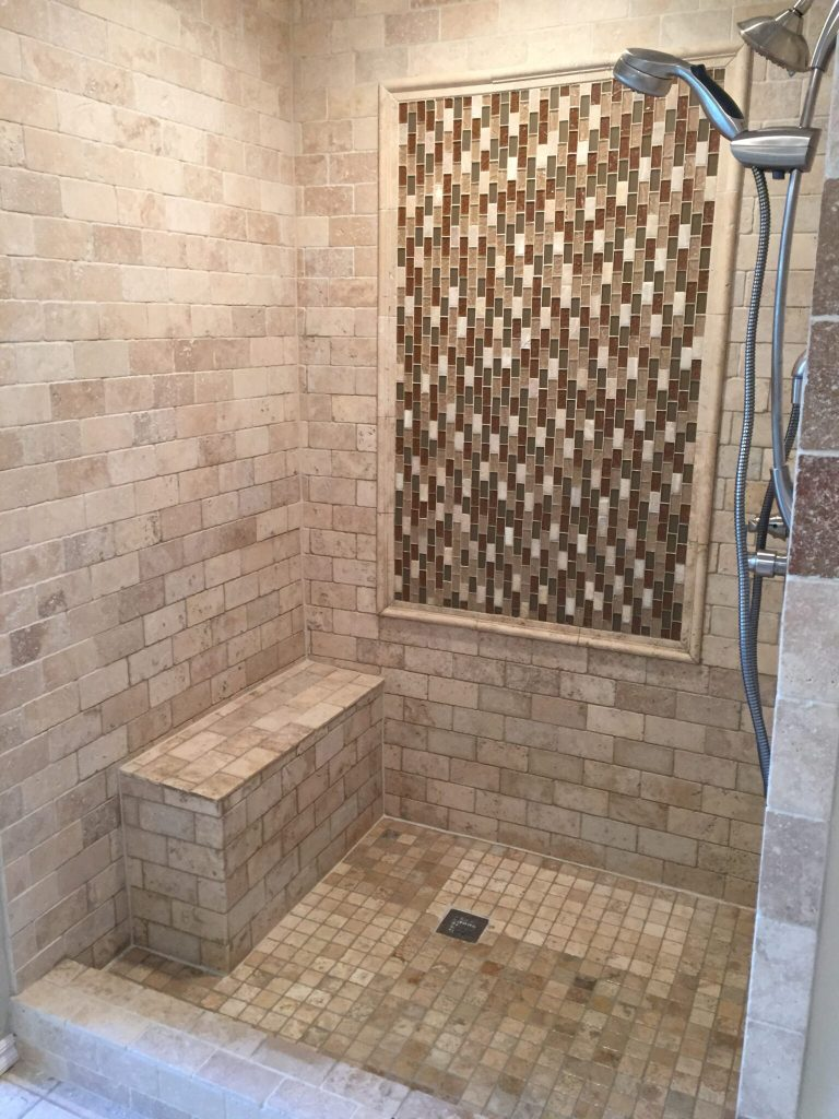 New tile shower.