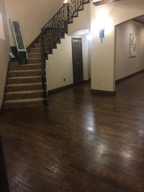 Stained Wood Floors.