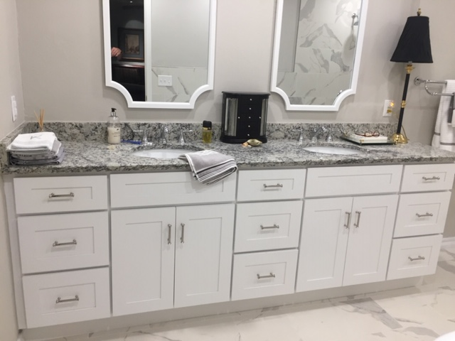 New vanity, new granite, new paint and new tile floors