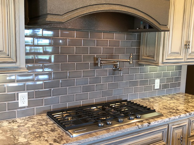 Photo of kitchen backsplash tile.
