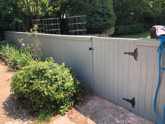 New backyard wood fence and paint.