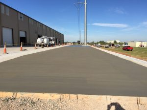 Commercial concrete for a large scale manufacturing company.