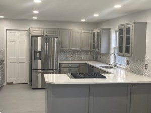 Kitchen with quartz counters - Eisel Roofing