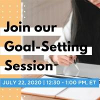 2020 Student Success Webinar - Goal Setting