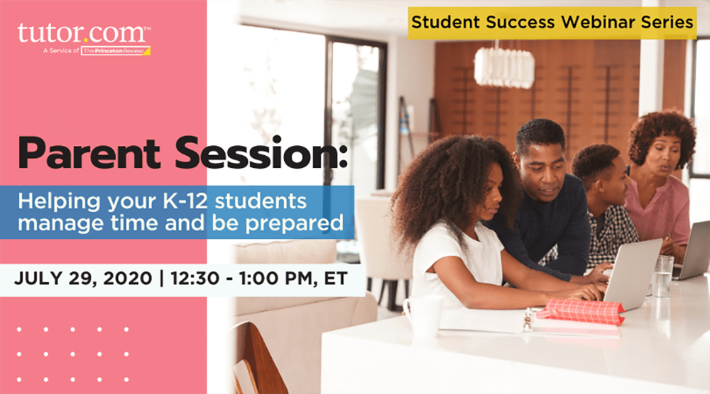 2020 Student Success Webinar - Parents Middle-High School