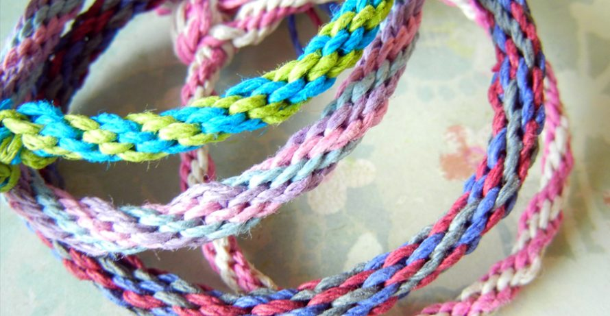 Let's Make: Kumihimo Braided Bracelets