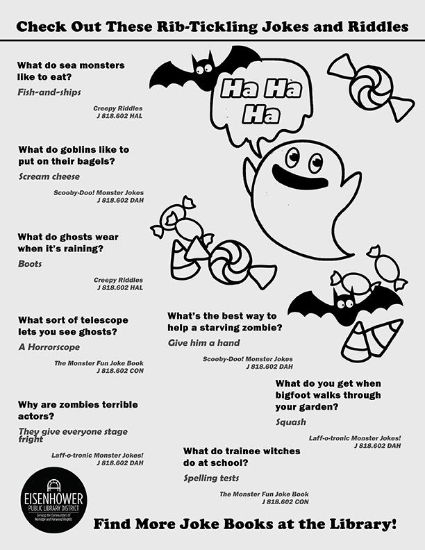 Halloween Jokes Printable Page