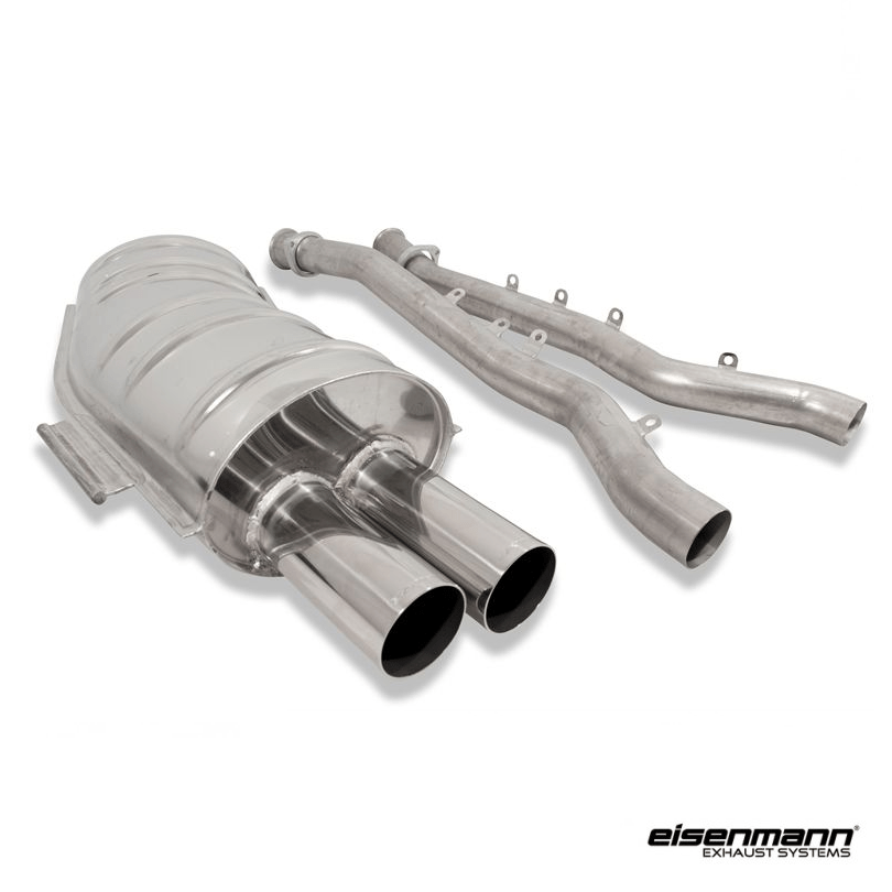eisenmann bmw e36 m3 performance exhaust 2 x 83mm