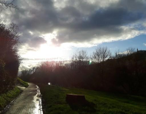 Flacher kalter Asphalt & windiger Wind ;)