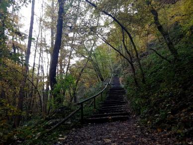 Die Treppen zum Schluss.