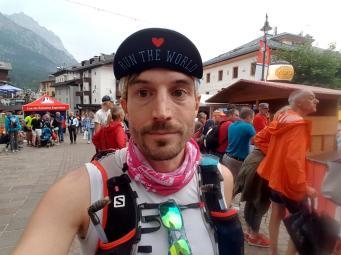 Finisher-Selfie ... und Angst vorm Arzt ... Wunden auswaschen :-O