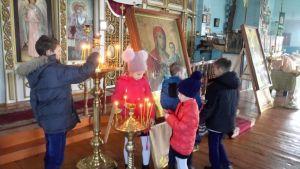 Храм Богоявления Господня станицы Калининской посетили школьники