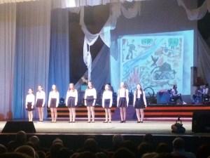 Концерт посвящённый празднику Дню защитника Отечества в станице Ленинградской