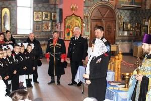 В храме Трех Святителей прошло торжественное посвящение в казачата