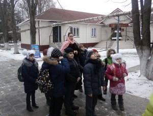 В храм Пантелеимона целителя станицы Каневской пришли школьники