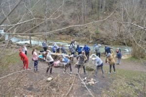 Посёлок Мезмай, «Гуамское ущелье» и его окрестности посетила группа воспитанников воскресной школы Тимашевска
