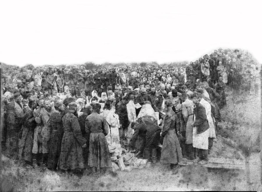 Освящение закладного камня каневского храма – на старинном фото