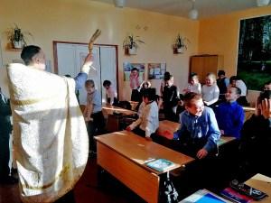 Настоятель челбасского храма совершил Великое освящение воды