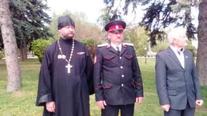 Праздничный парад, посвящённый Дню реабилитации казачества в ст. Ленинградской