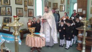 Юные казачата приняли присягу в Свято-Троицком храме