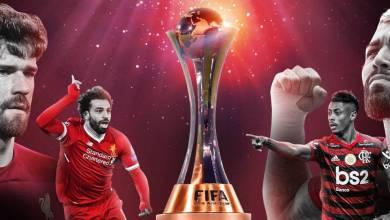 Jogadores do time do Flamengo e do Liverpool