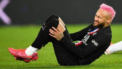 Neymar Lesionado em partida do PSG e Montpellier