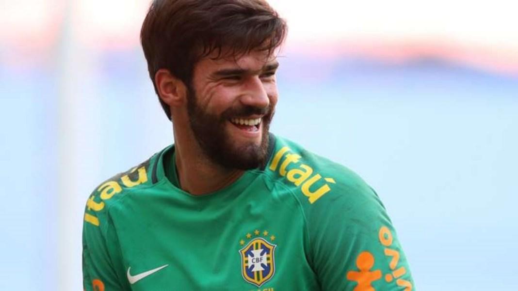 Goleiro Alisson na Seleção Brasileira