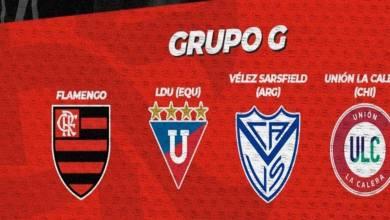 Grupo G Libertadores - Flamengo liderando