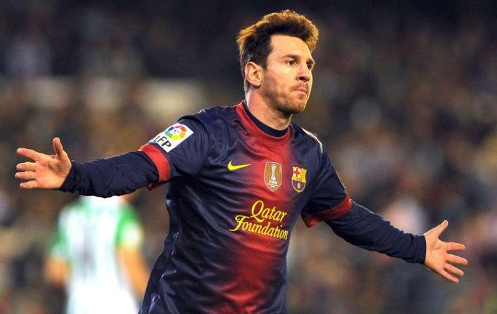 Lionel Messi recordista de números de gols feitos em uma única temporada