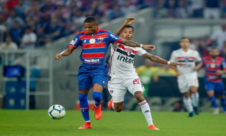 São Paulo enfrenta Fortaleza pela Copa Brasil.