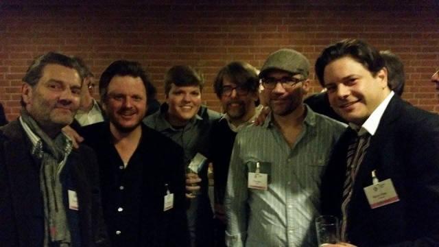Von links: Klaus Frings (Autor), Lutz Heineking, jr. (Regisseur), Philipp Hammer (Marler Gruppe), Sebastian Züger (Autor), Ole Heller (Cutter) und Marco Gilles (Produzent)