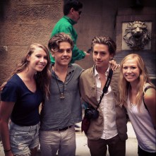 Ran into Dylan and Cole Sprouse walking the streets if Florence