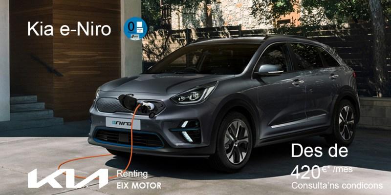 Kia e-Niro en Renting Oportunitat a Eixmotor.