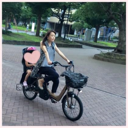 近藤純 自転車でお迎え