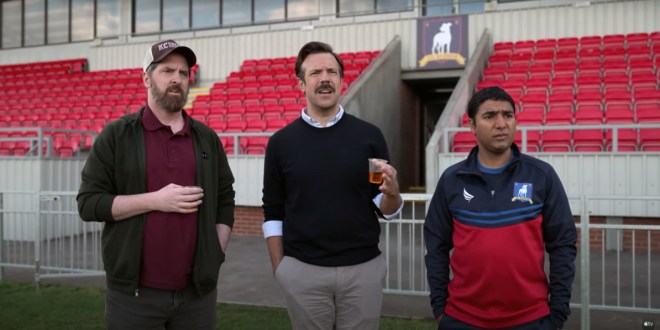 Apple TV's Ted Lasso turns a viral video into a pretty good sitcom