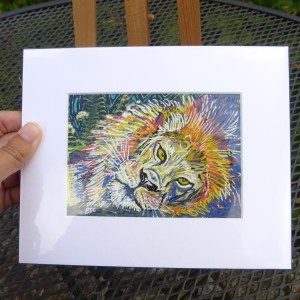 Lying down lion painting by Larryware