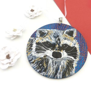 Racoon painting by Larryware