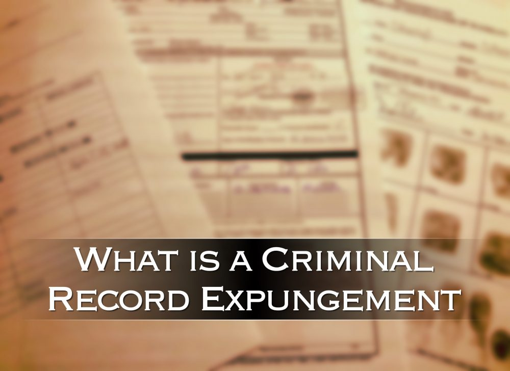 what is a criminal record expungement definition