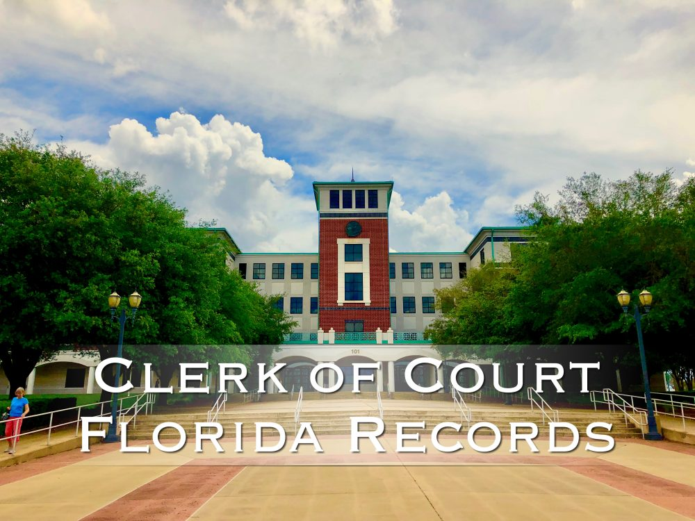 Clerk Records Lookup for Florida  Links to the Florida Clerk
